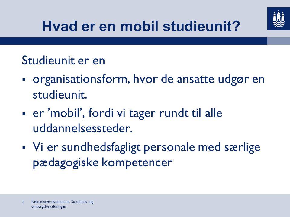Hvad er en mobil studieunit