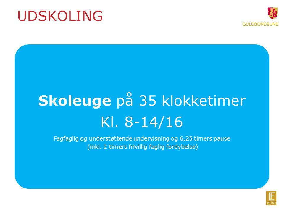 Skoleuge på 35 klokketimer Kl. 8-14/16