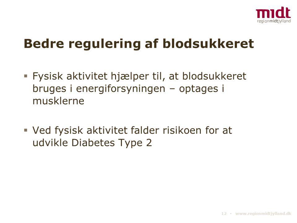 Bedre regulering af blodsukkeret