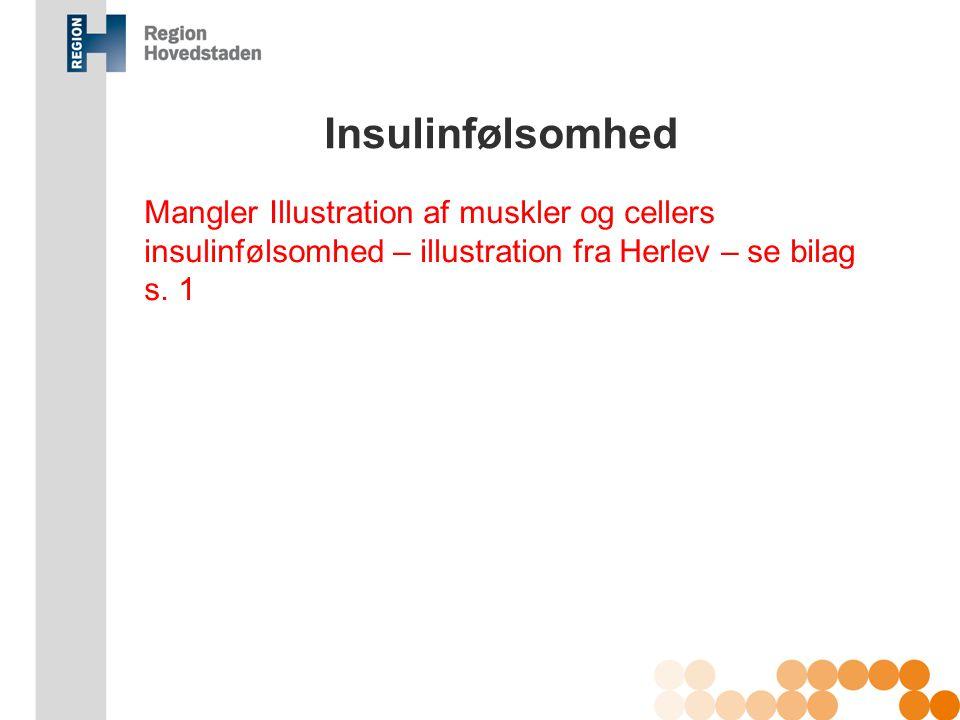 Insulinfølsomhed Mangler Illustration af muskler og cellers insulinfølsomhed – illustration fra Herlev – se bilag s. 1.