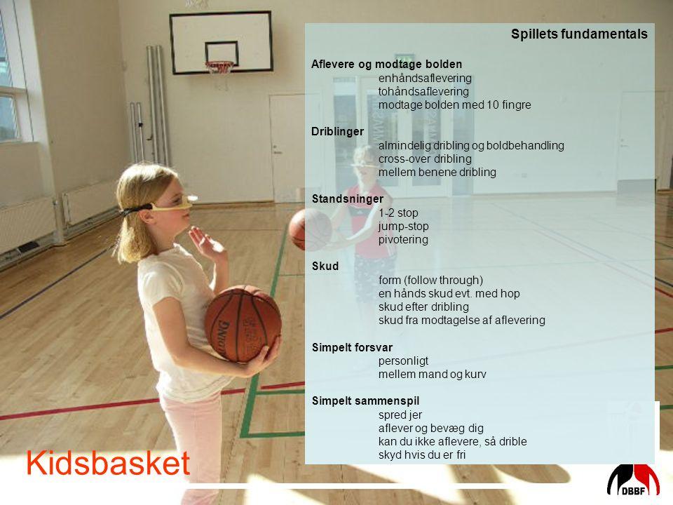 Kidsbasket Spillets fundamentals Aflevere og modtage bolden