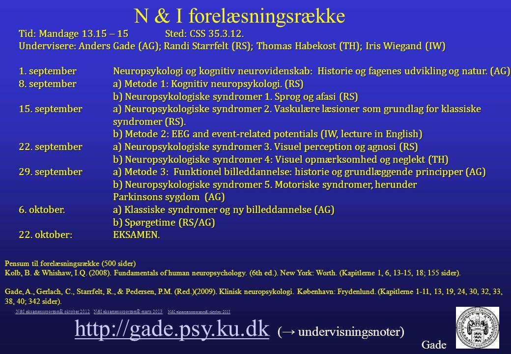 http://gade.psy.ku.dk (→ undervisningsnoter)