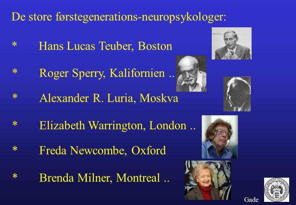 De store førstegenerations-neuropsykologer: