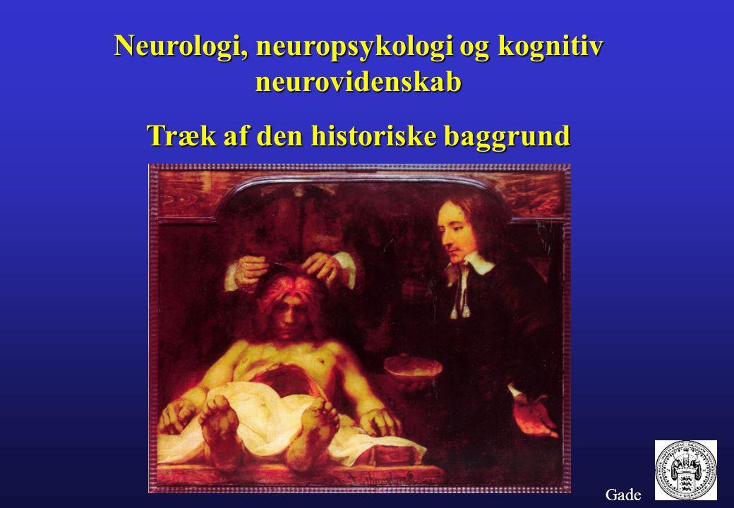 Neurologi, neuropsykologi og kognitiv neurovidenskab