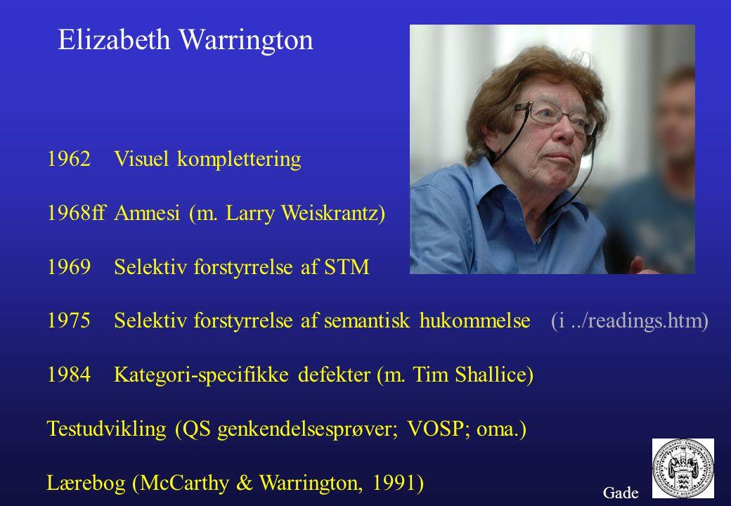 Elizabeth Warrington 1962 Visuel komplettering