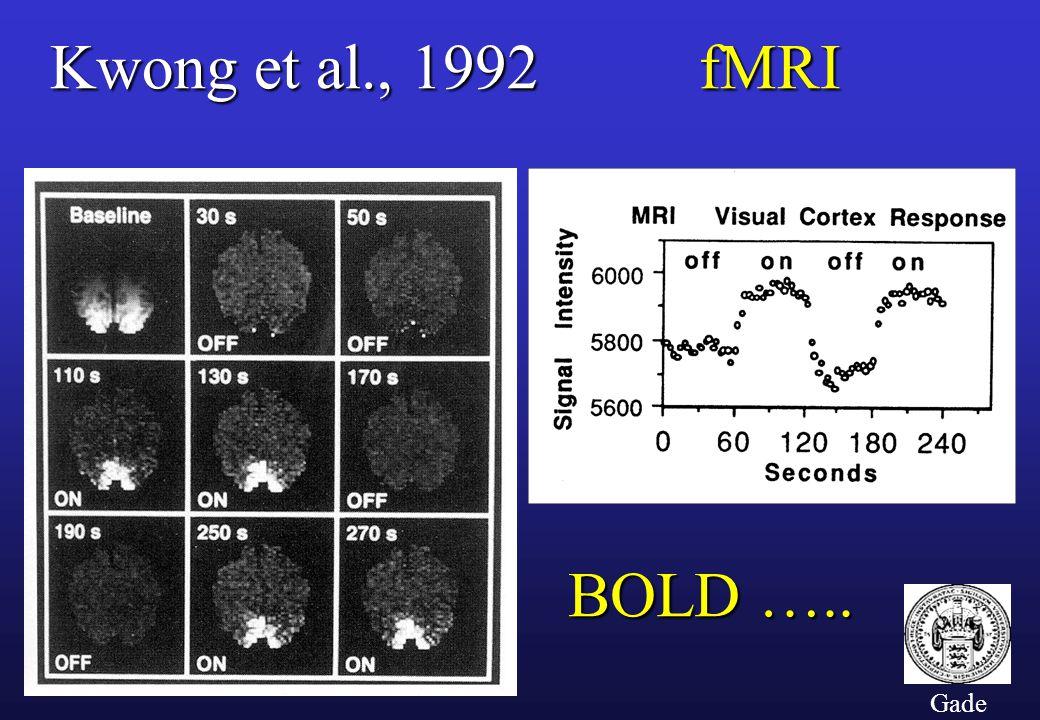 Kwong et al., 1992 fMRI BOLD ….. Gade