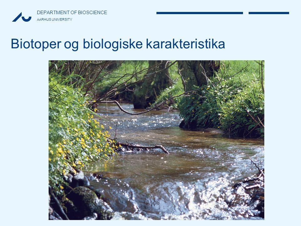 Biotoper og biologiske karakteristika