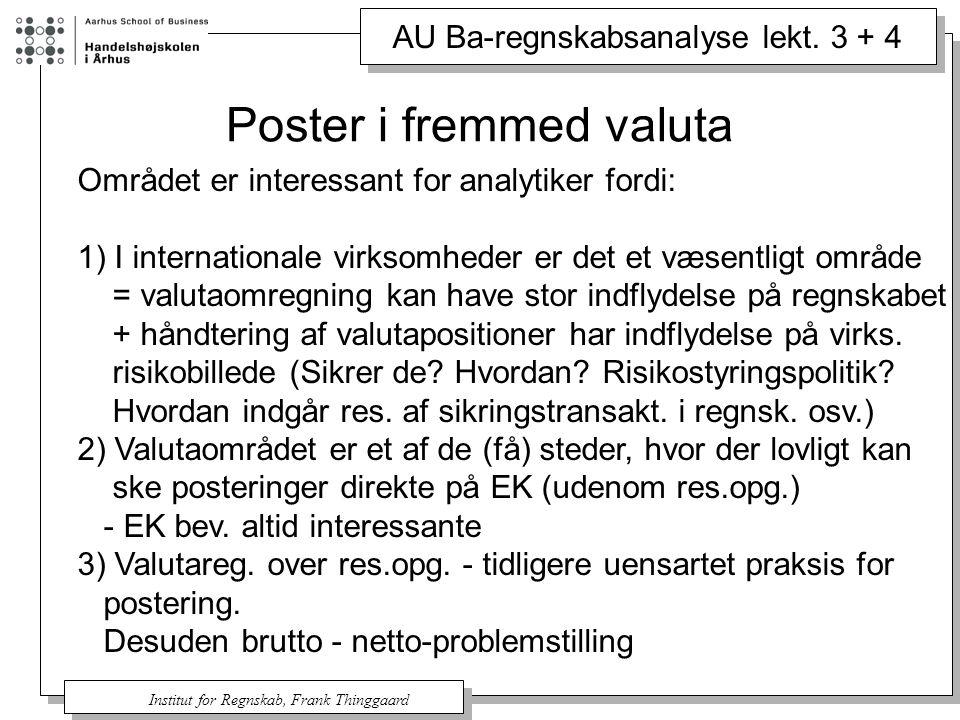 Poster i fremmed valuta