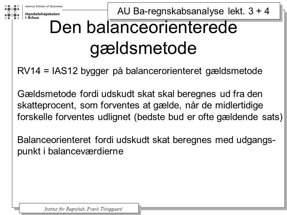 Den balanceorienterede gældsmetode