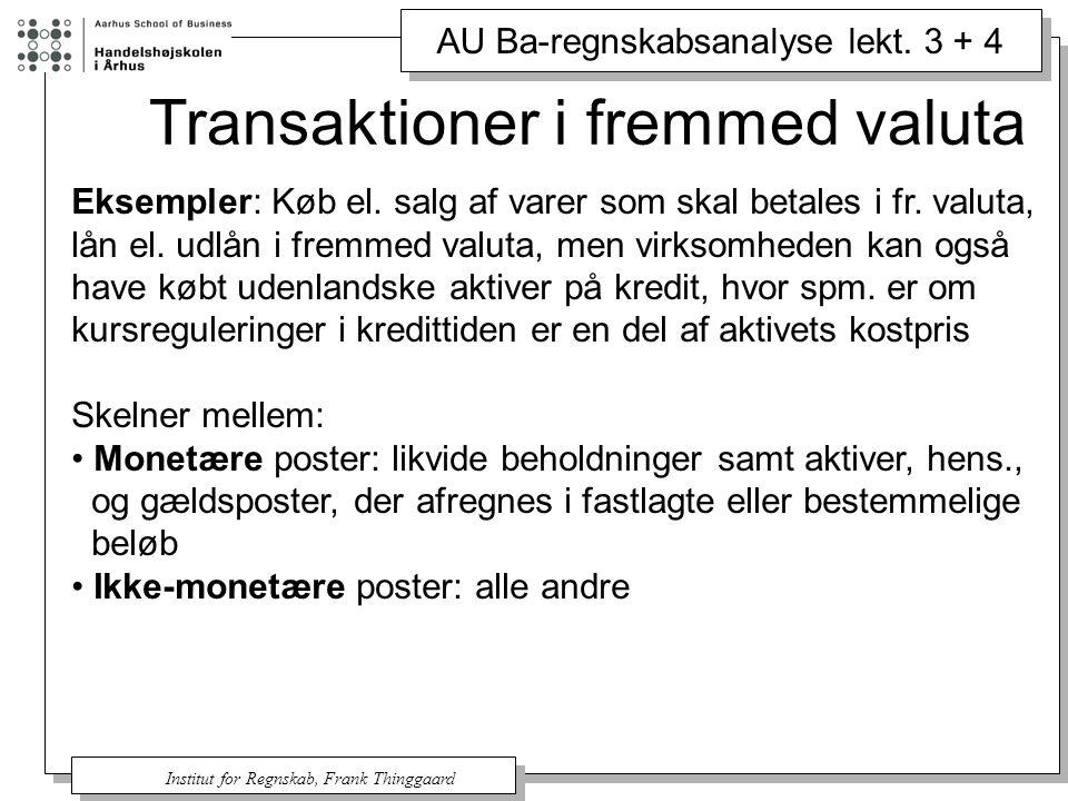 Transaktioner i fremmed valuta