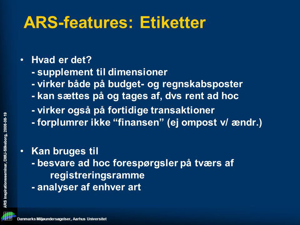 ARS-features: Etiketter