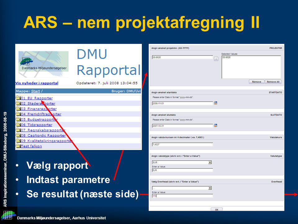 ARS – nem projektafregning II