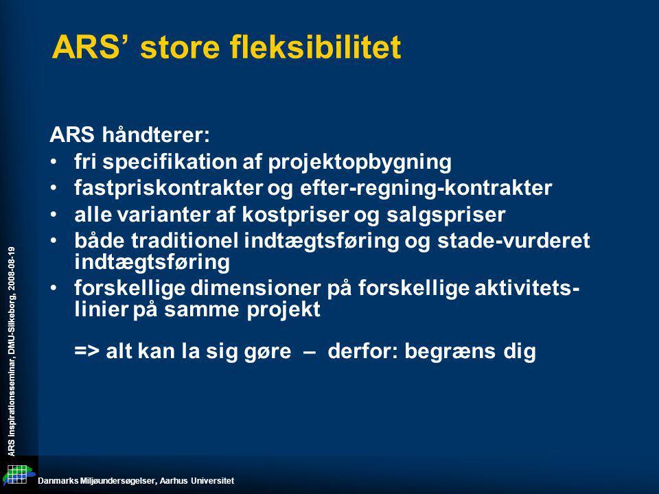 ARS' store fleksibilitet