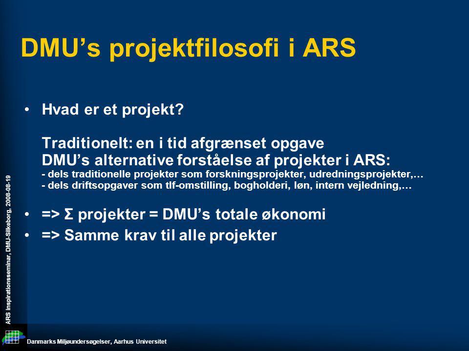 DMU's projektfilosofi i ARS