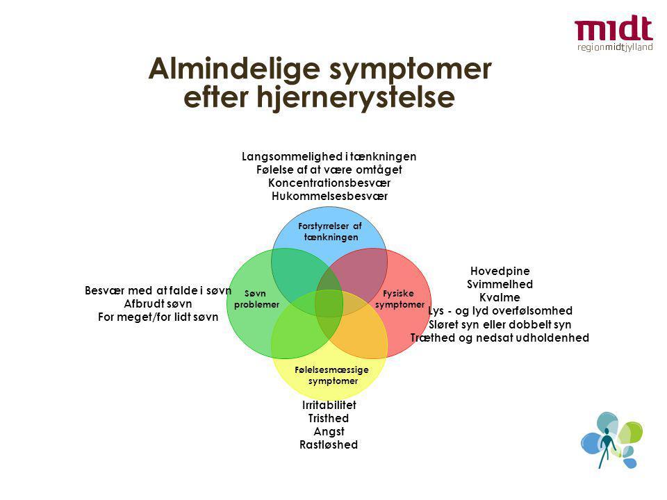 Almindelige symptomer efter hjernerystelse
