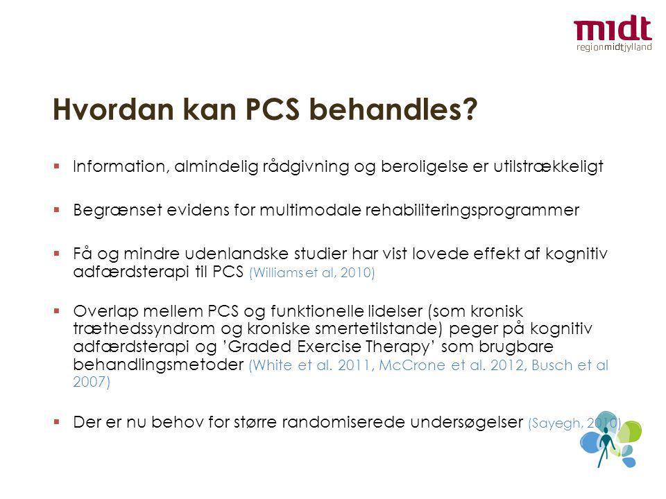Hvordan kan PCS behandles