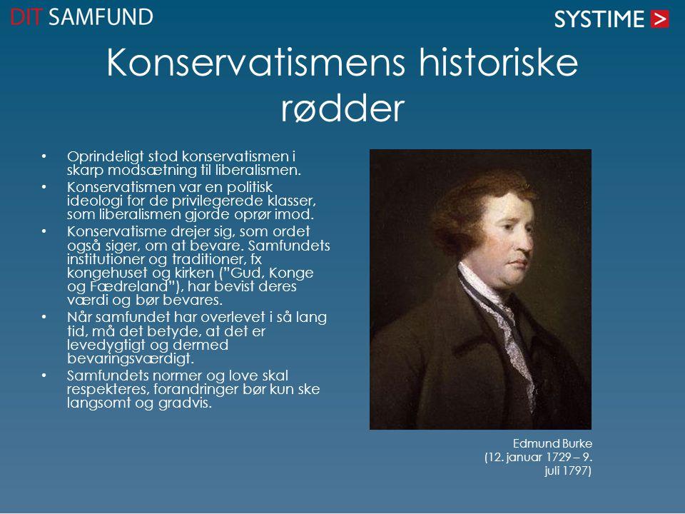 Konservatismens historiske rødder