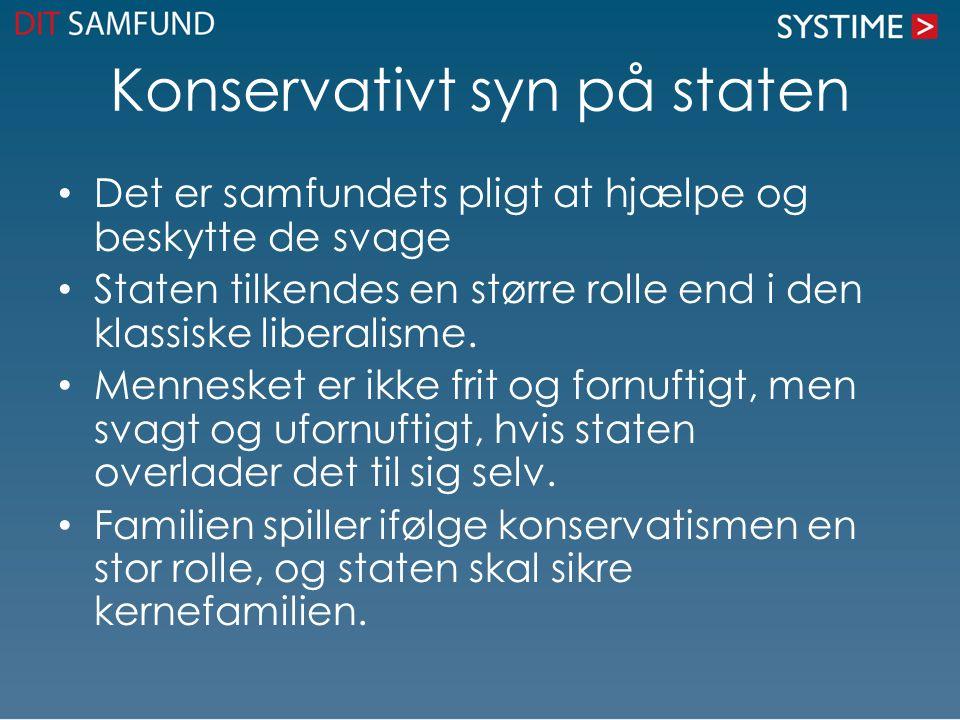 Konservativt syn på staten
