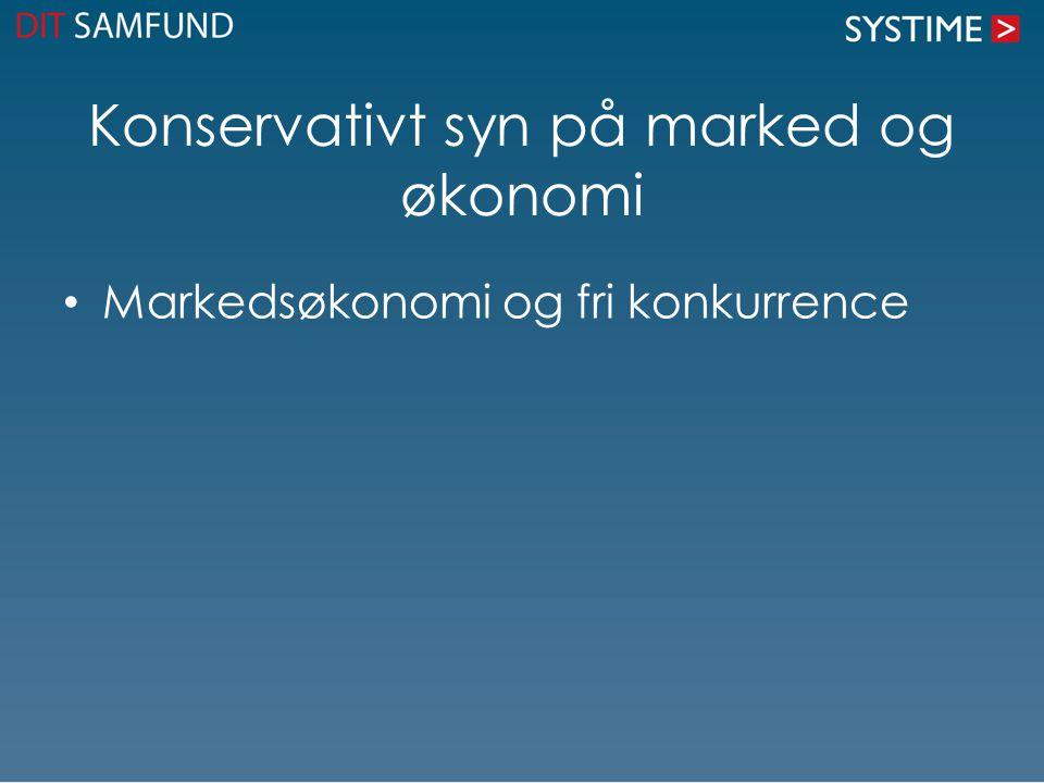 Konservativt syn på marked og økonomi