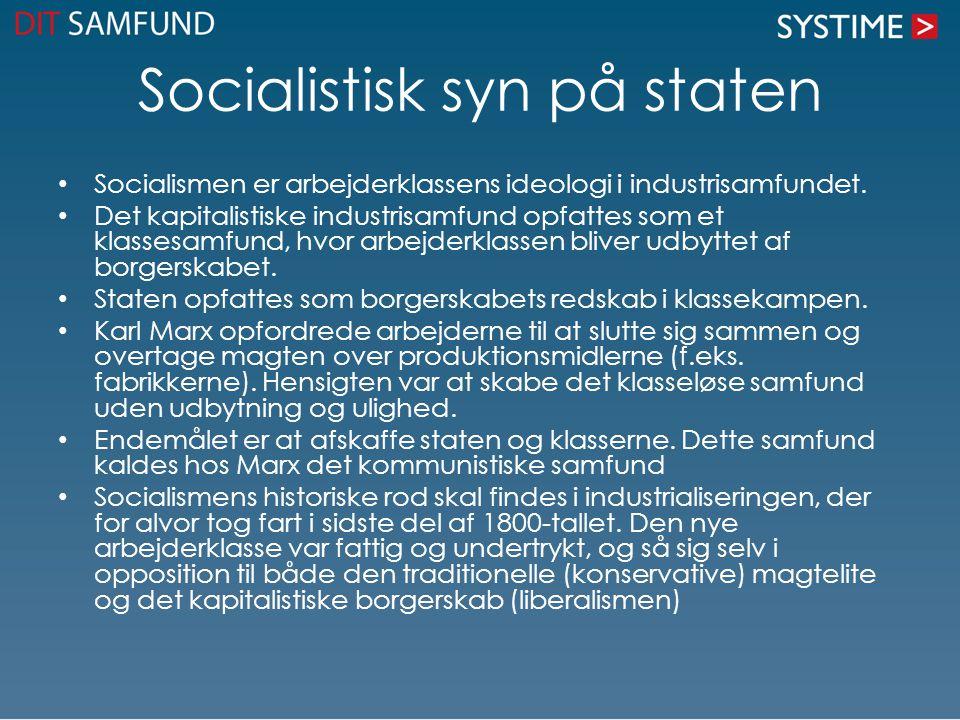Socialistisk syn på staten