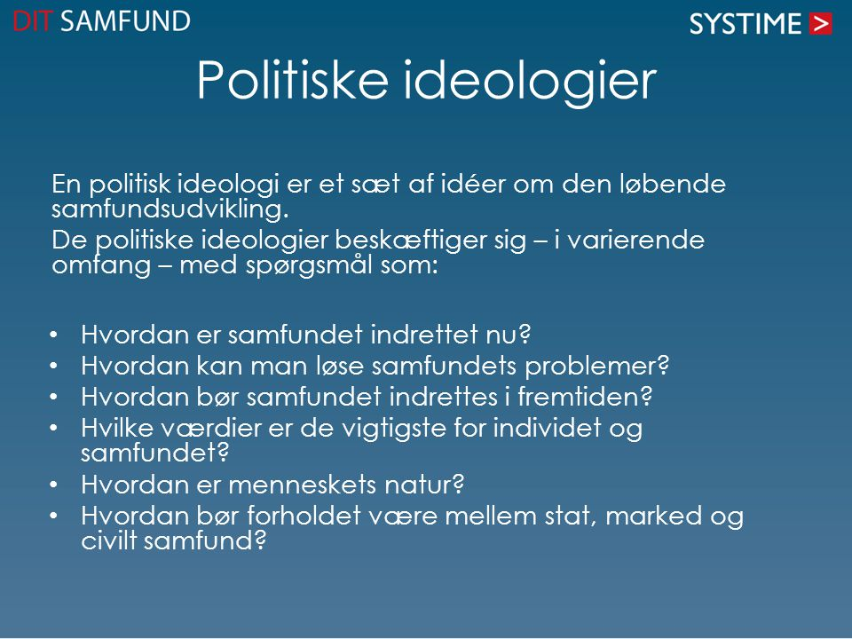 Politiske ideologier
