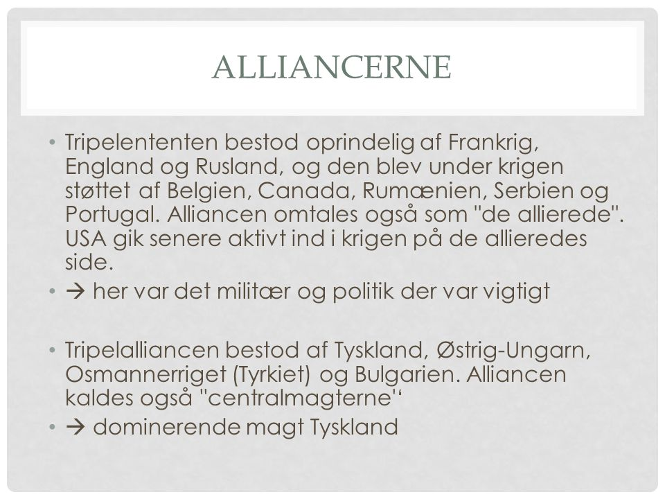 Alliancerne