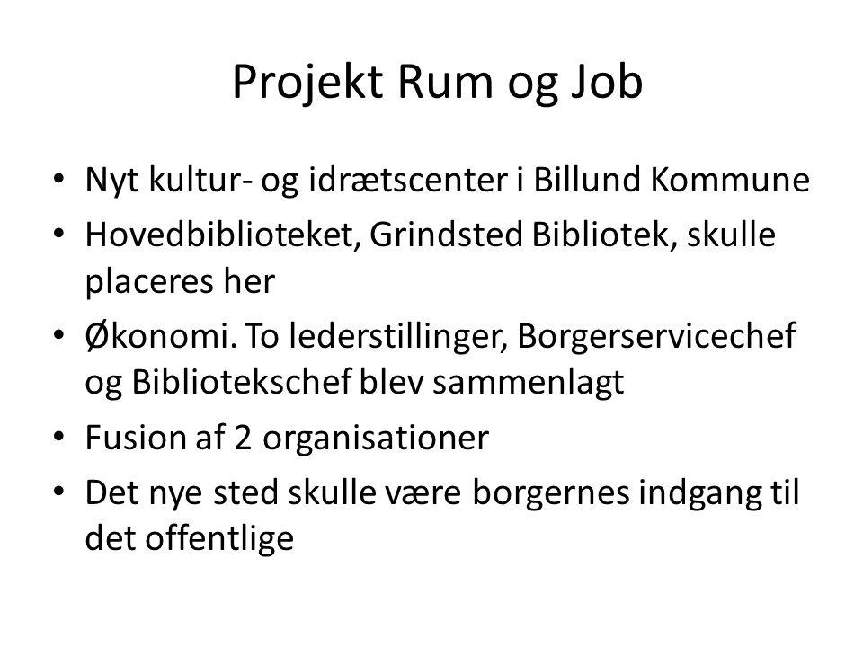 Projekt Rum og Job Nyt kultur- og idrætscenter i Billund Kommune
