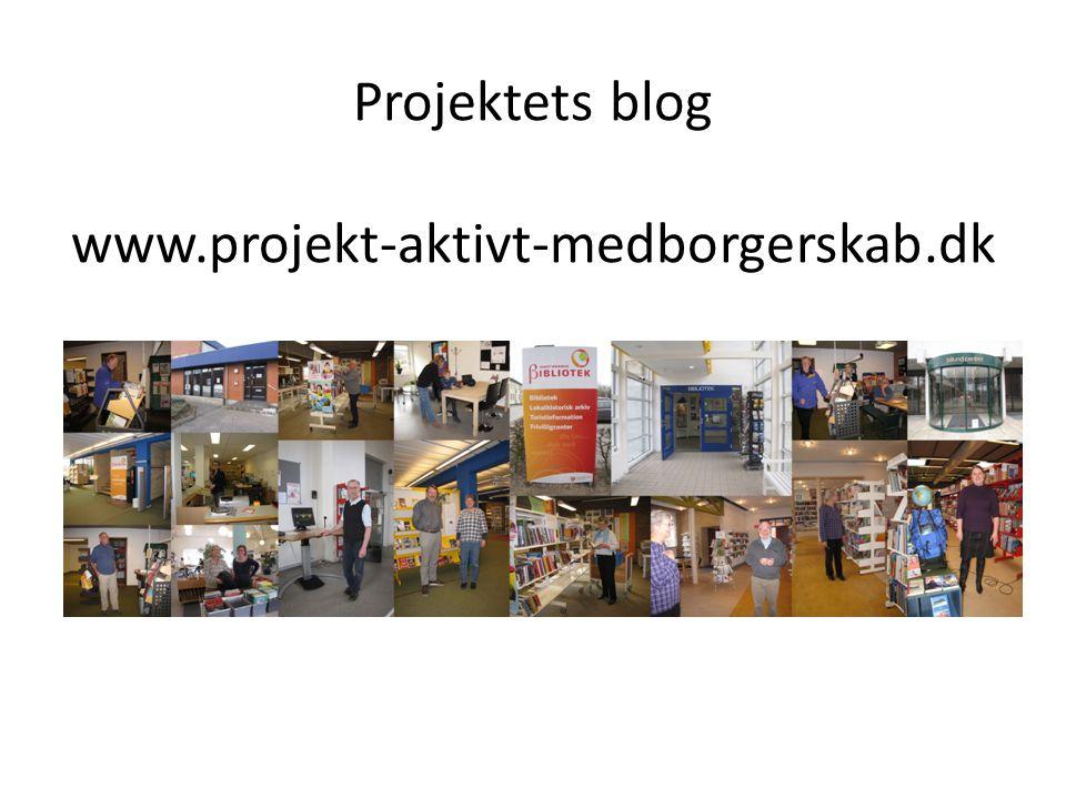 Projektets blog www.projekt-aktivt-medborgerskab.dk