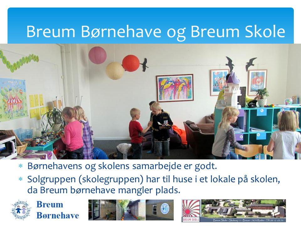 Børnehavens og skolens samarbejde er godt.