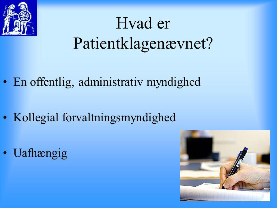 Hvad er Patientklagenævnet