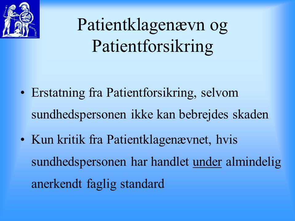 Patientklagenævn og Patientforsikring