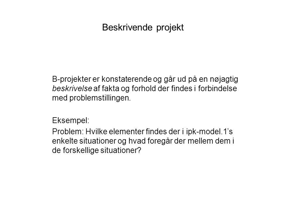 Beskrivende projekt