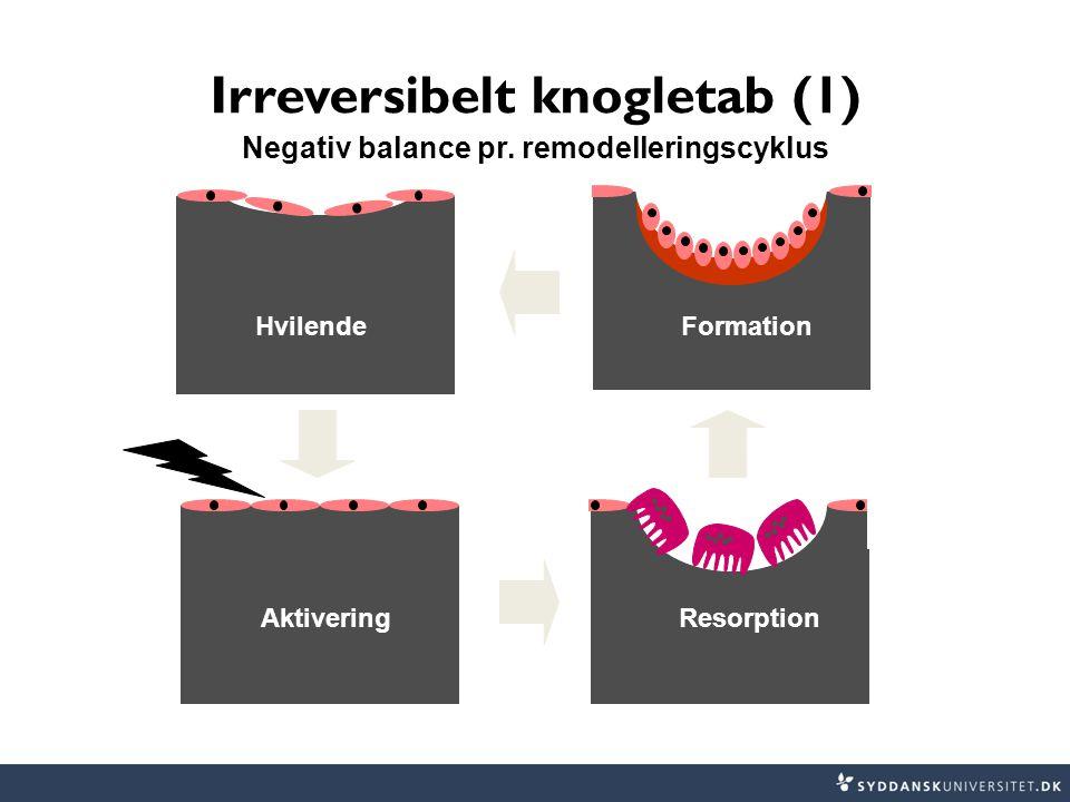 Irreversibelt knogletab (1) Negativ balance pr. remodelleringscyklus