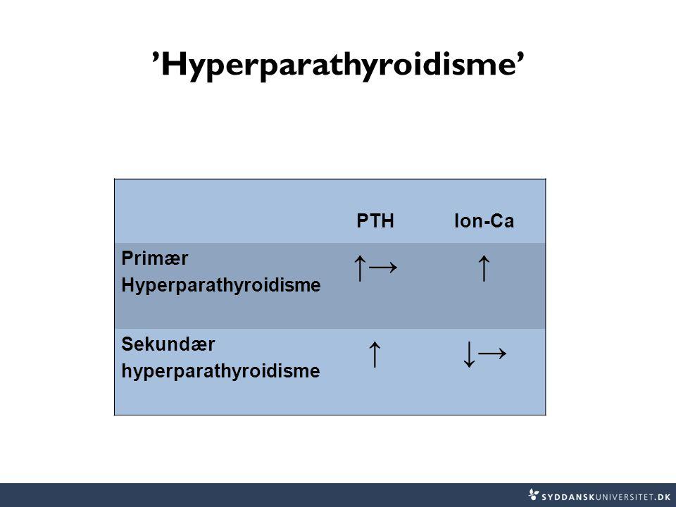 'Hyperparathyroidisme'