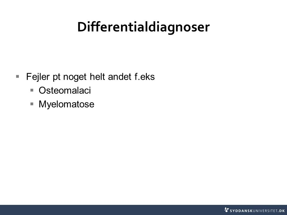 Differentialdiagnoser