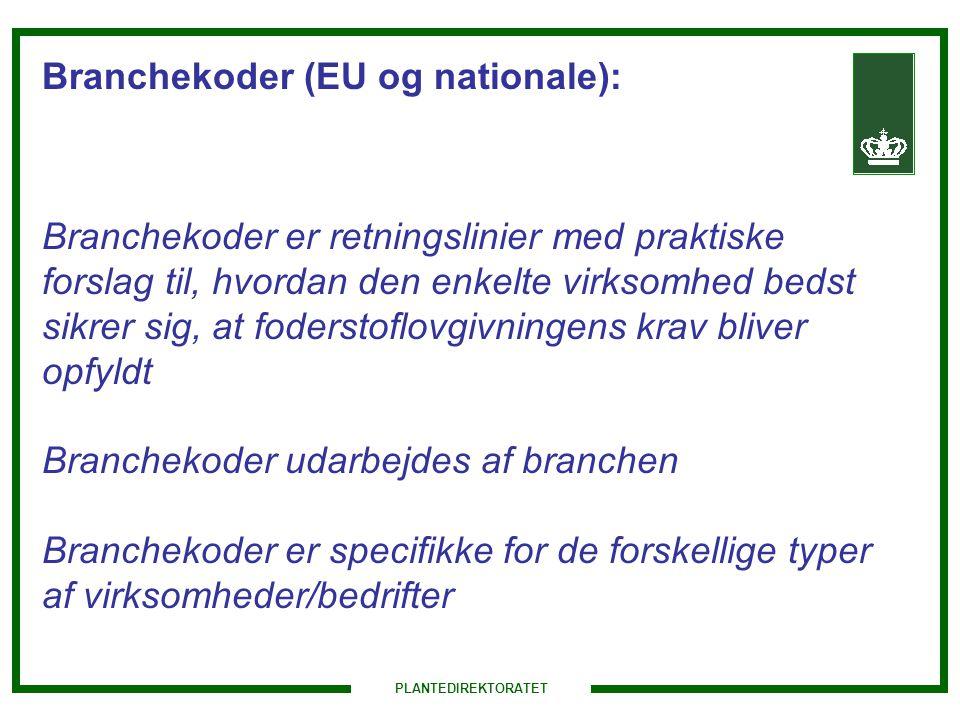 Branchekoder (EU og nationale):