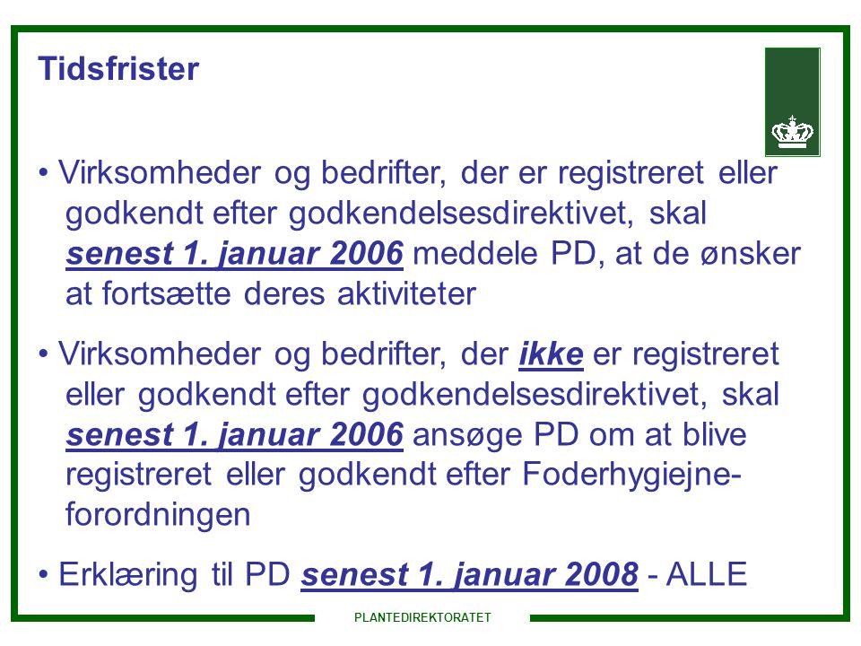 Erklæring til PD senest 1. januar 2008 - ALLE
