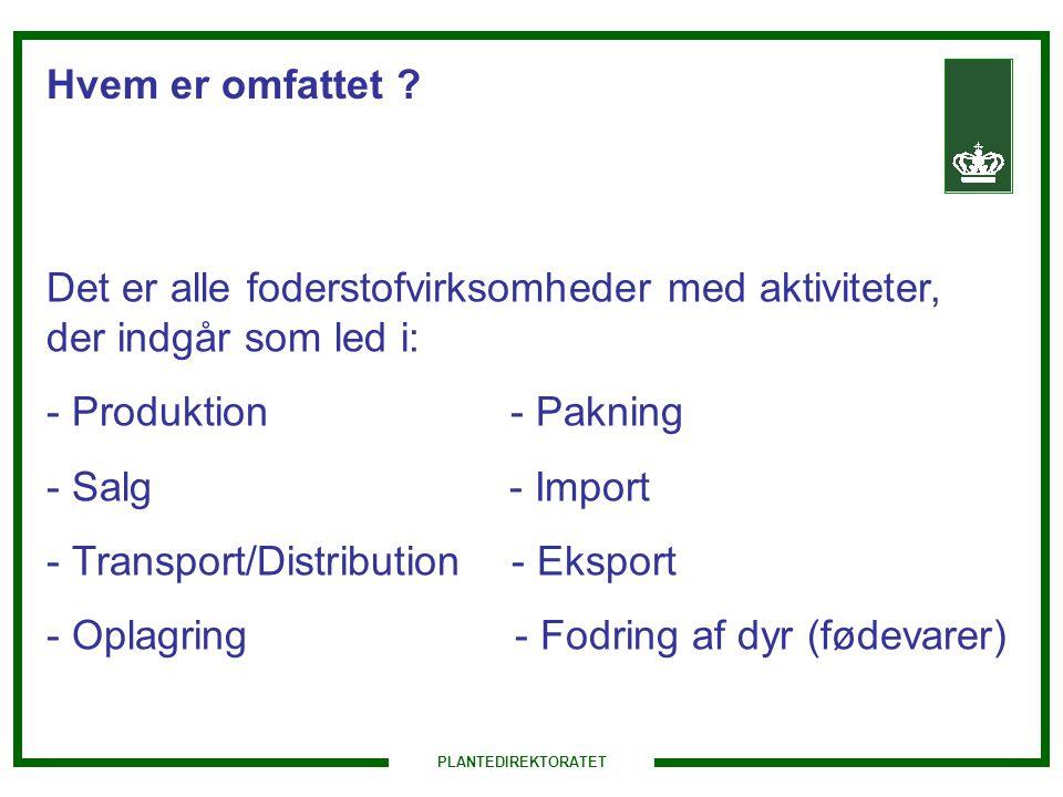 Transport/Distribution - Eksport