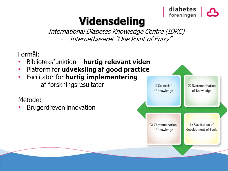 Vidensdeling International Diabetes Knowledge Centre (IDKC)