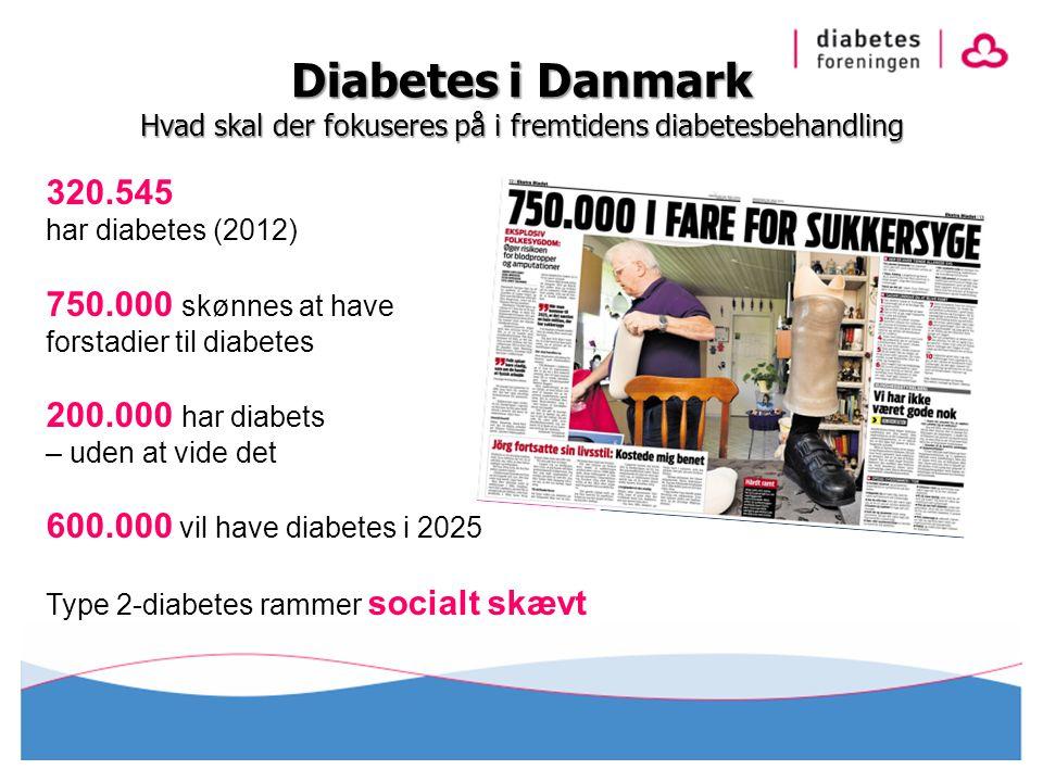 Diabetes i Danmark Hvad skal der fokuseres på i fremtidens diabetesbehandling