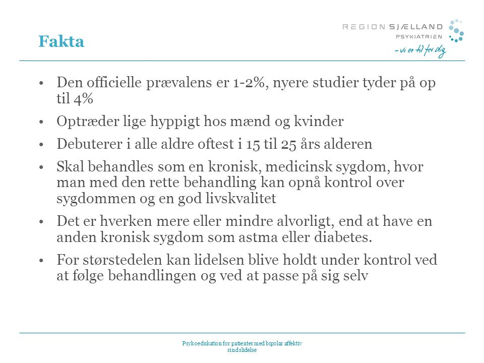 Psykoedukation for patienter med bipolar affektiv sindslidelse