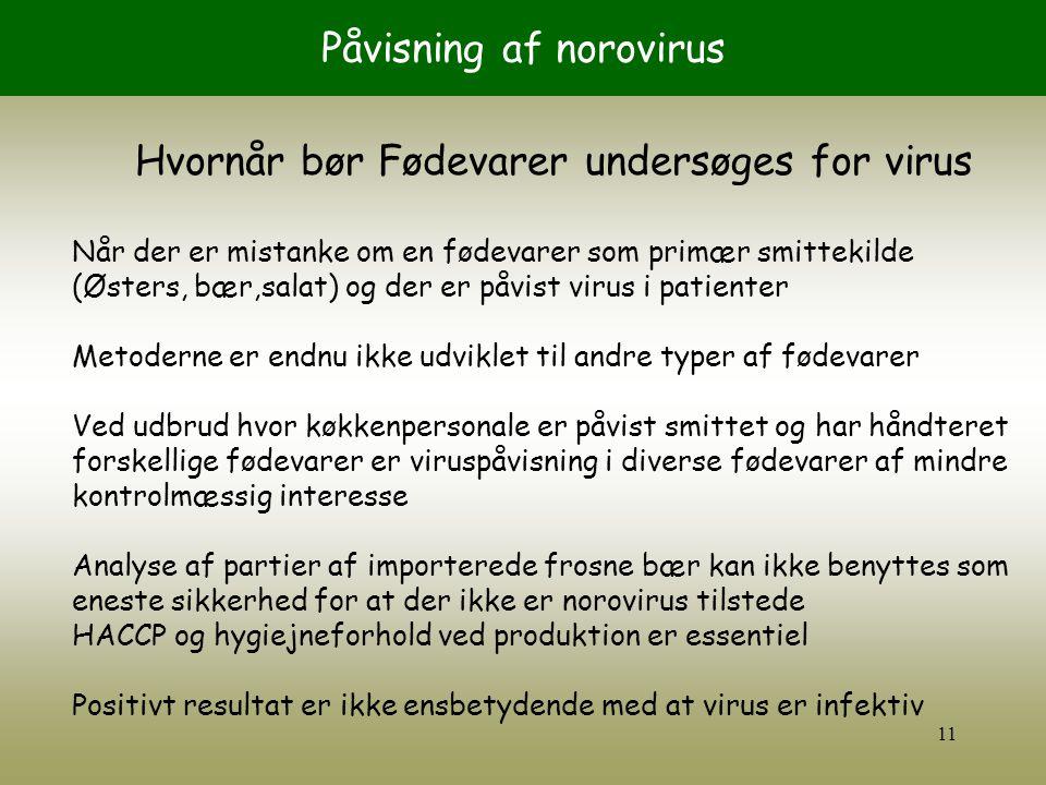 Påvisning af norovirus