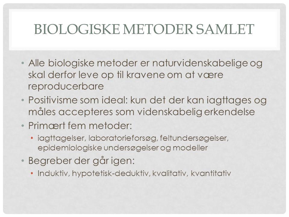 Biologiske metoder samlet