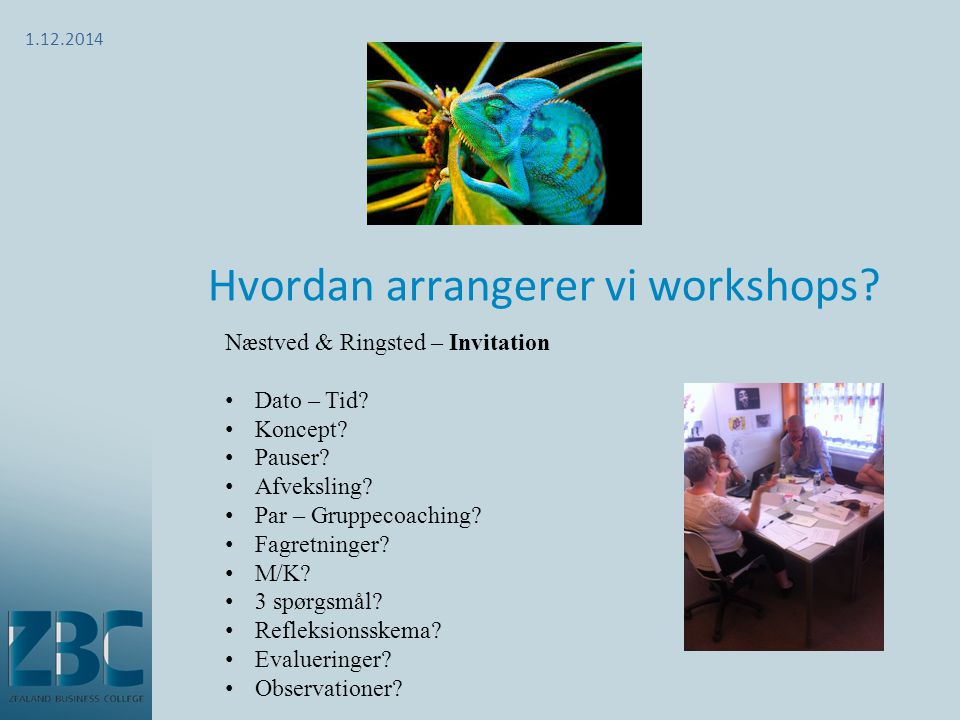 Hvordan arrangerer vi workshops