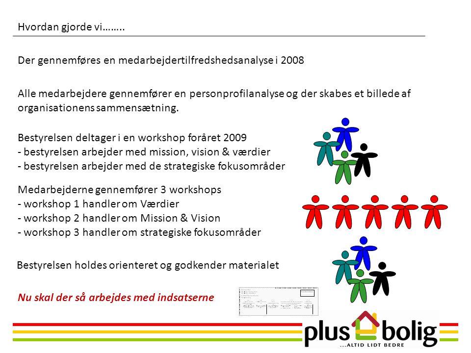 Hvordan gjorde vi…….. Der gennemføres en medarbejdertilfredshedsanalyse i 2008.