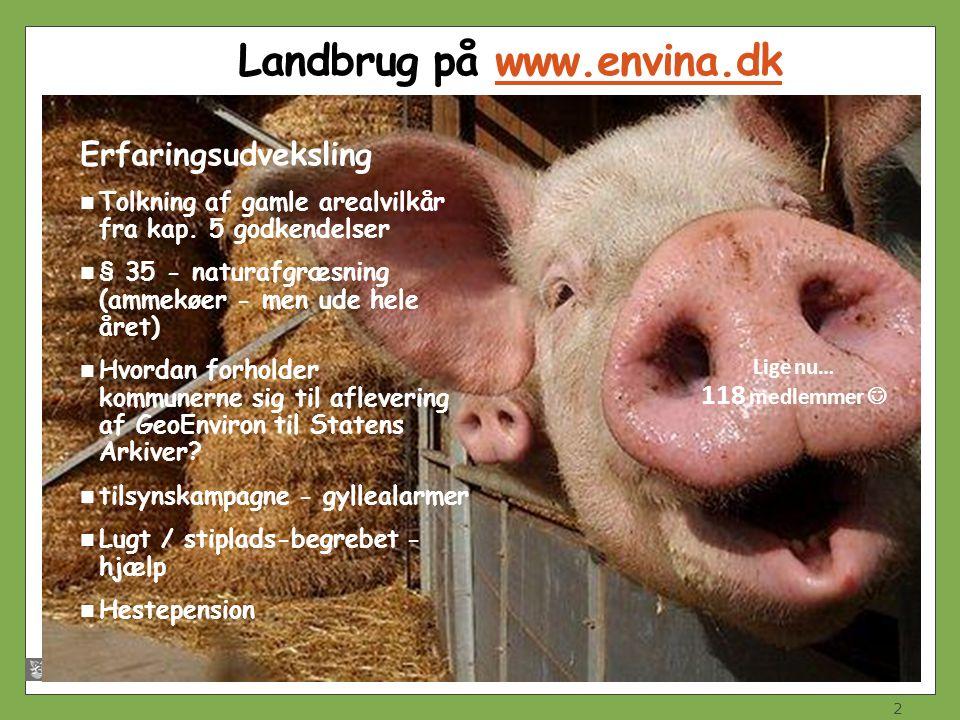 Landbrug på www.envina.dk