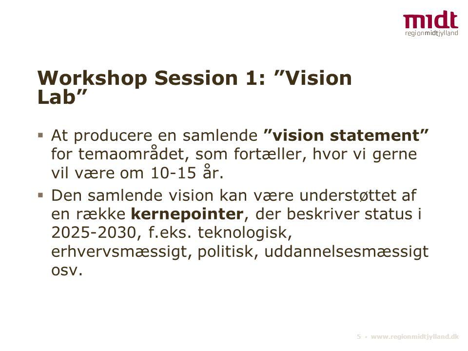 Workshop Session 1: Vision Lab