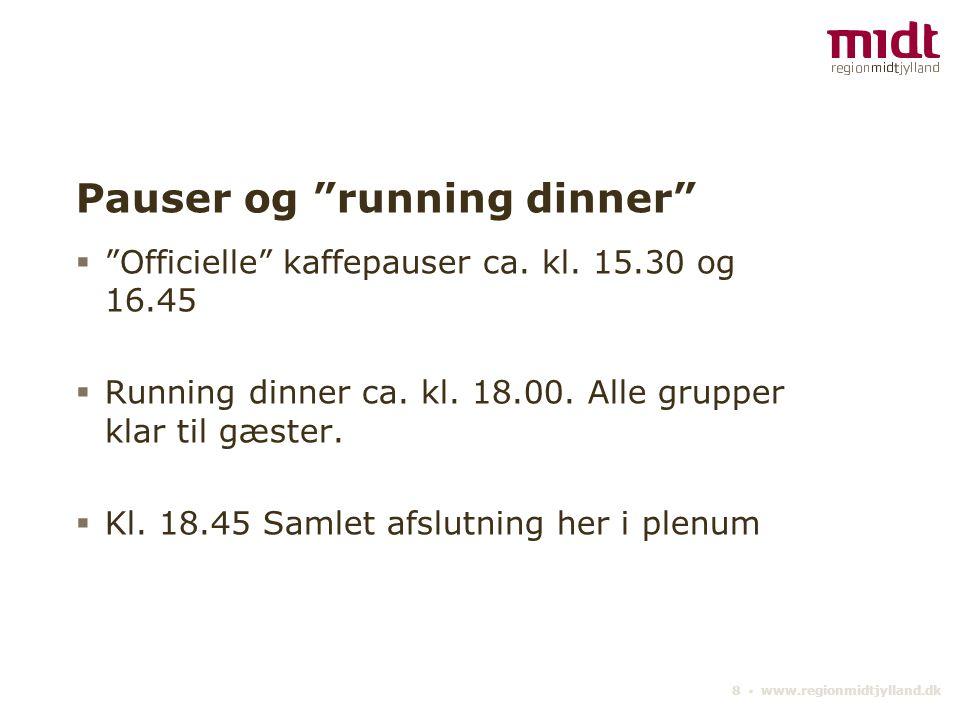 Pauser og running dinner