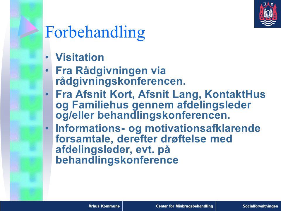 Forbehandling Visitation Fra Rådgivningen via rådgivningskonferencen.
