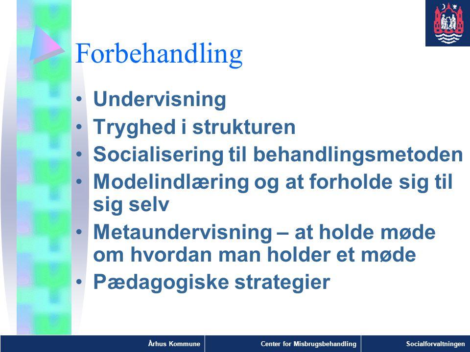Forbehandling Undervisning Tryghed i strukturen